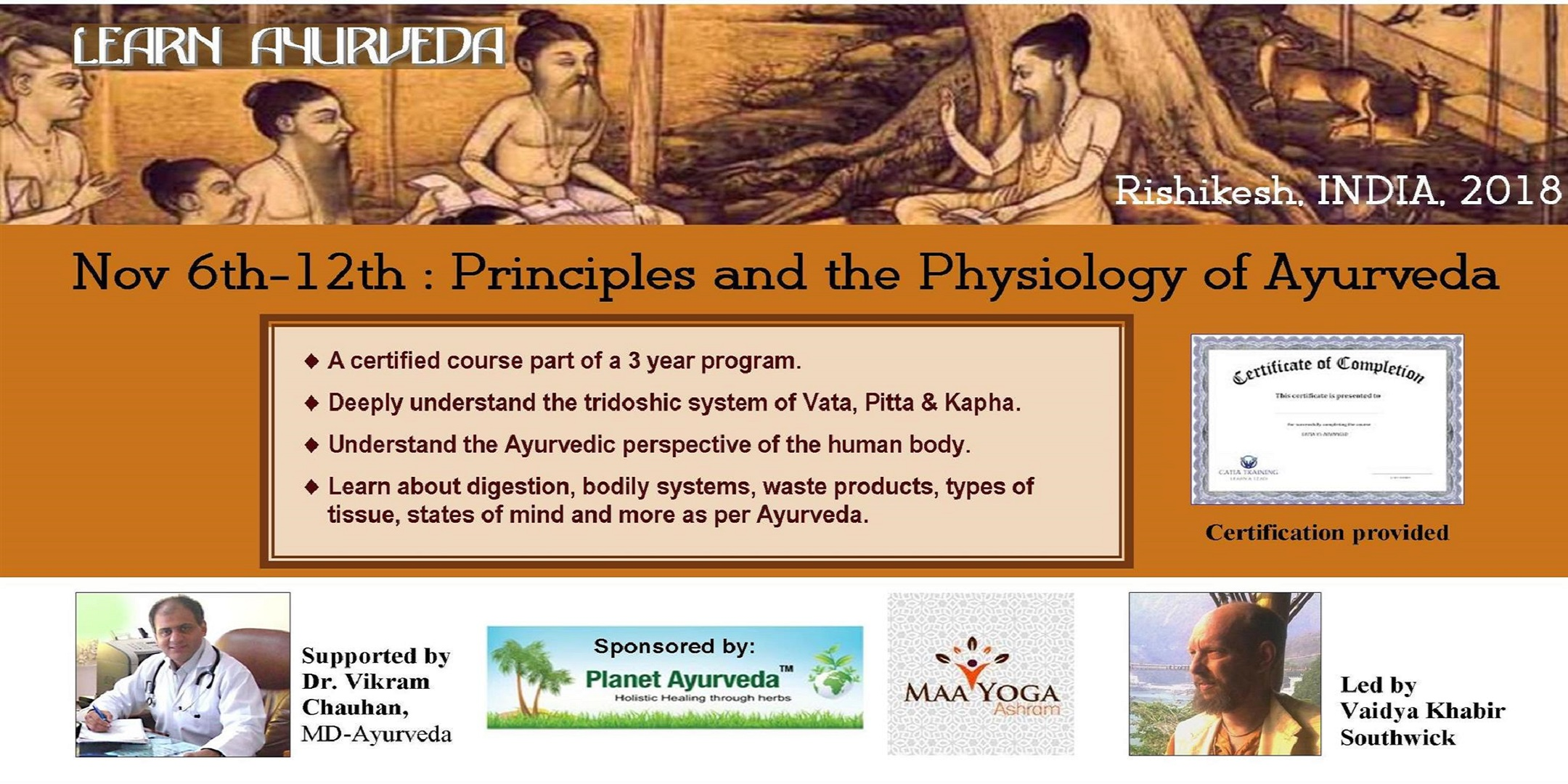 7 Day Course Principles And The Physiology Of Ayurveda