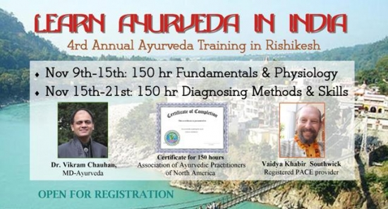 7-day 150 hr workshop: Diagnosing Methods & Skills of Ayurveda