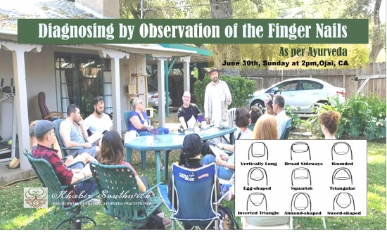 Free class: Diagnosing by Observation of the Fingernails as per Ayurveda