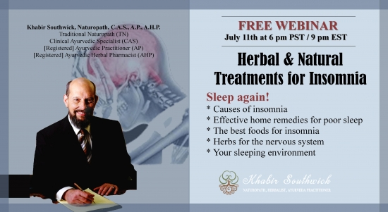 Webinar: Herbal & other Natural Treatments for Insomnia